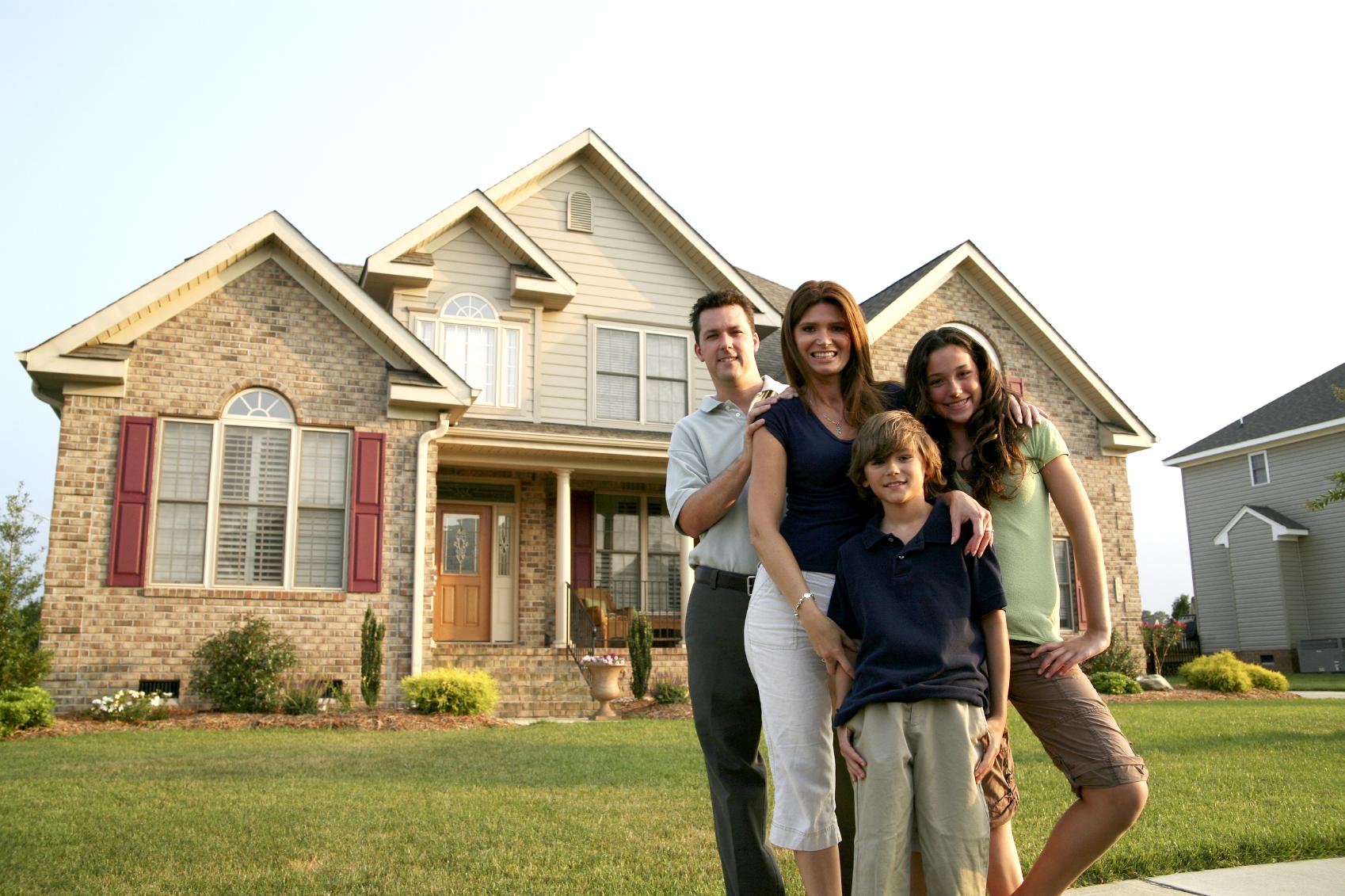Фото красивый дом и дети